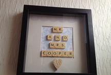 Little lady creations  / Scrabble art