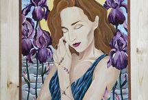 Guber Art / Oil color, wood, art, beauty