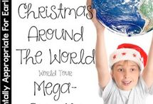Christmas Around The World / Around the World thematic fun for kindergarten math, reading, social studies, art, music, writing, and science.