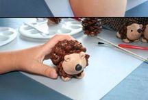 modelína ježek