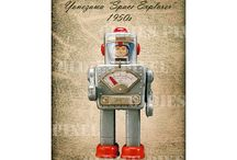 YONEZAWA Tin Model Toys Japan / Tin Model Toys - Cars - Robots - Motorbikes - Made in Jpan