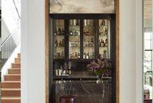 BAR / Unique entertainment spaces, customized with bar lighting, wine storage, beverage refrigerators and barware storage.