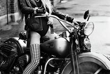 Biker Chicks & Leather ღ / Bikes