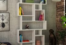 Modern Bookcases DIY / Space for everything… Don't you get bored fixed spaces. Wide, narrow, large or small do not matter…you can find space for every size of your books and items
