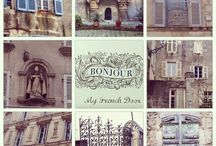 French Inspiration / Photos taken by me and used as collage for posts on My French Door.