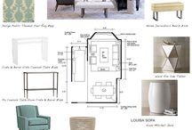Interior Design Mood Board / Ideas for creating mood boards