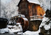 Old mills and water wheels