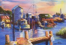Art & Artists of Southport & Oak Island / Artists from all over love to capture the beauty of our area. Visit our website http://www.rudd.com/oak-island-guide/art-galleries-wine-shops/ to find a list of the top art galleries and artists in town. See some of their beautiful work here! #southport #oakisland #art