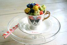 New vintage redesign teacups / with Snogi be happy and Emilijin Kolač