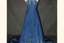 denim wedding dress