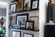 оформление стен  развеска картин