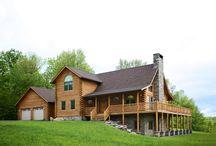 The Lee Log Home by Beaver Mountain Log Homes