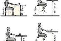 Altura sillas y mesas