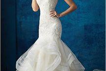 Sellő fazonú esküvői ruhák
