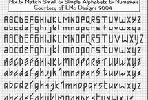 back stitch alphabets