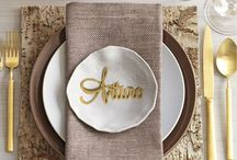 Gold Calligraphy escort card with the Name for table seating arrangement