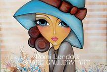 Romi Lerda... / ...dibujar e inspirarse con ella y sus mujeres bellisimas...