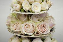 alzatine con fiori