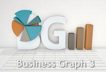 3D charts / 3D charts, 3D visualizations of data, 3D pie charts, bar graphs, etc.