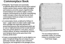 Commonplace Books