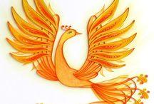 birds / madarak / quilling