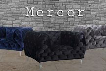 Mercer Arm Chairs / Meridian Furniture- The Mercer arm chair will WOW any visitor that steps foot in your home! This Chic and Contemporary piece is Available in Grey, Beige, Black, and Navy!