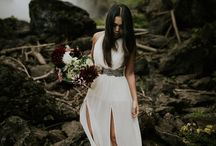Adventurous Destination Elopement / Adventurous couples eloping at PNW waterfalls or in the Alberta Rocky Mountains. Bridal and groom style and destination elopement inspiration.