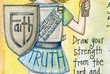 Ephesians--Bible Journaling by Book / Bible Journaling examples from the book of Ephesians