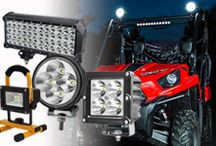 LED Work Light / 12V Cree and Espitar LED work light bar with flood beam and spot beam.Also used as auxiliary driving lights,fog light for SUV bumper, fire engine and ambulance car.
