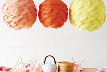 party poofs, paper fans, & lanterns / www.fortandfield.com / hello@fortandfield.com / instagram: @fortandfield / by Jessica Cahoon / fort & field