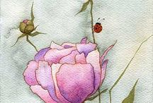 maľované kvety / kvety