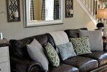 Leather couch pillow colour scheme