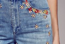 Flower embroidered outfit