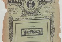 McCalls 1907 Pattern Catalogue for Spring and Summer / Scans from my personal copy of McCalls 1907 pattern catalogue for spring and summer.