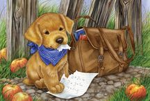köpek temalı dekupajlar