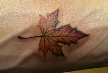 My Tattoos / Armband tattoo with trillium flower and Maple Leaf