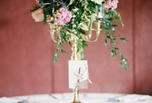 Centerpieces + Reception Florals / Centerpiece and Reception Florals created by Molly Taylor and Co.