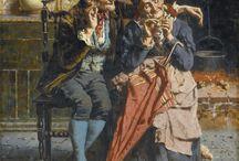 Eugenio Eduardo Zampighi / Italian painter (1859-1944)