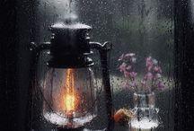 deszcz, wieczór