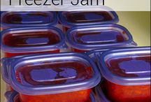 Homemade freezer jams