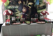 Masha and the bear birthday party / Sara's birthday party masha and the bear