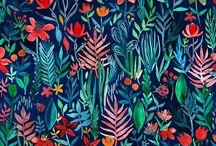 flores urbano dibujo estampado