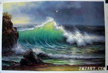 SEA WAVES  PAINTING