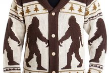 MOB Cardigans / Aliens, Krampus, Cthulhu, Bigfoot, Loch Ness Monster + more from Middle of Beyond