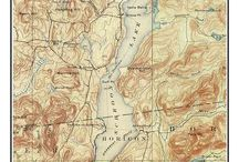 """New York Eastern Lakes Old Maps NY / These are old composite maps of New York Eastern Lakes custom made out of one or more USGS """"quads"""".   We add a border and a title to make the maps more attractive.  These are available from our website in different sizes and prices.  We emphasize common frame sizes but they can be customized as the buyer desires--e-mail us if you don't see what you want!"""