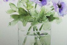 akwarele- kwiaty