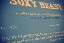 Soxy Beast Christmas Gift 2015 / Christmas gift idea!  Last minute gift (use a gift voucher) or get in early to receive the December edition just before Christmas so you can put it under the tree!