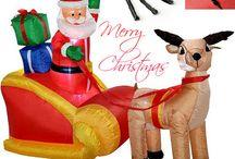Inflatable christmas decoration