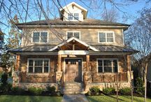 Exterior / Beautiful front elevations of farmhouses, bungalows, four-squares, and more