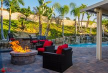 Fabulous Outdoor Firepits / Outdoor pavers firepits are the perfect addition to your home's backyard to add beauty, warmth and sophistication. Hosting guests all year round has never been so cozy or beautiful!